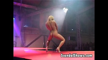 Sexy desktop gadget Hot blonde exposes her goodies