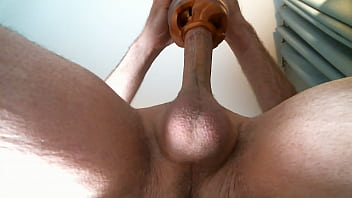 masturbating with my fleshlight thrust. oozing cum at the end Thumb