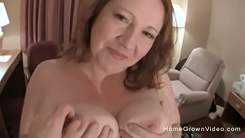 Chubby amateur tits videos - Big tit amateur bbw jerks and fucks a skinny guy