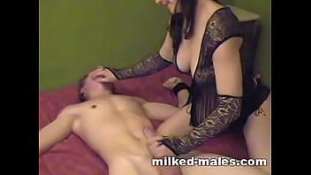 Gorgeous girl milking tied boy thumbnail