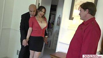 Horny wife fucing her husbands employee