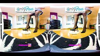 VR 3D Foot Girl Trailer Shoeplay, Crushing, Nylons, High Heels, Sneaker virtual reality PSVR 4 min
