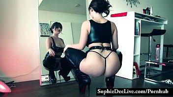Sophie Dee sensual striptease
