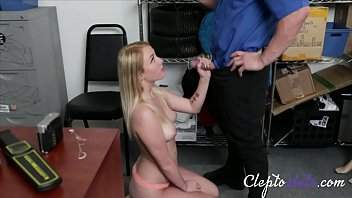 Blonde Hot Teen Gets Forced Fucked By Old Cop For Stealing-Dixie Lynn