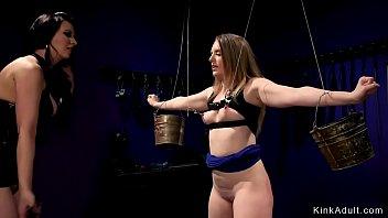 Lesbian mistress anal bangs pale slave