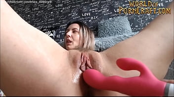 Finger herself until she cums Hot camgirl uses vibrator on herself until she creams