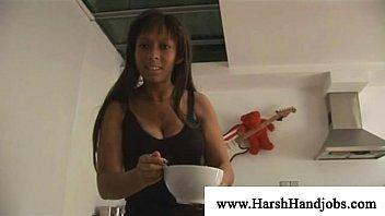 Naughty black lady punishing cock
