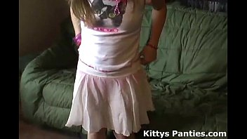 Teen panty porn thumbs - Petite teen kitty in a cute little pink skirt
