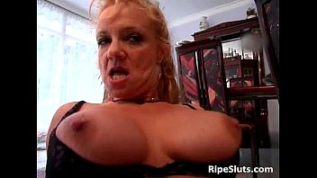 Hot mature blonde gets that craving