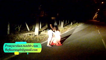 Pranya getting fucked on running road with Police Sirens behind video