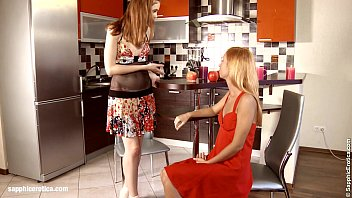 Kitchen Coupling - by Sapphic Erotica lesbian sex with Minerva Agnessa