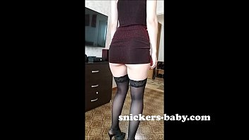 Big ass teen hot sexy girl big tits homemade very sexy red transparent dress Snickers baby