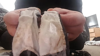 My wifes crusty panties