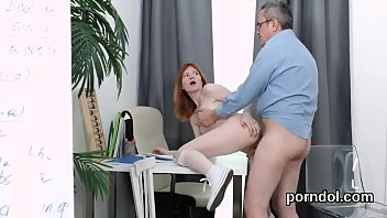Vulva in old age - Erotic schoolgirl was seduced and fucked by elderly lecturer