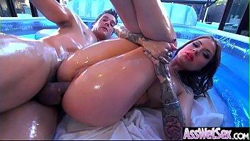 (Karmen Karma) Big Oiled Ass Girl Like Deep Anal Hardcore Sex clip-16