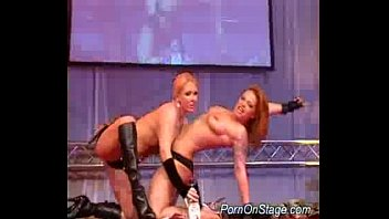 Lesbian strippers on the stage
