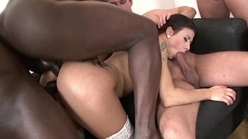 One Whore And Lots Of Cock - Sex Orgy Gangbang