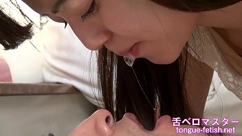 Japanese Asian Girls Fetish Deep Kissing & Handjob, Tongue Fetish, Spit Fetish