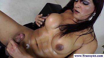 Shemale tranny dildofucks her tight ass pornhub video