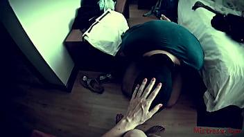Mistress uses Slave to polish her Nails (POV) - Mistress Kym