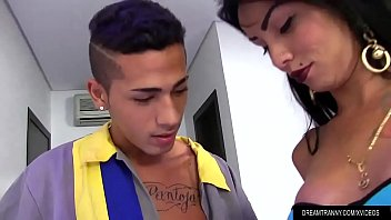 Ass iick a tranny Horny tgirl nicolly pantoja and a dude fuck each other in the ass