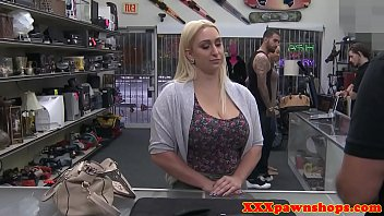 Curvy pawner pussyfucked by horny pawnbroker