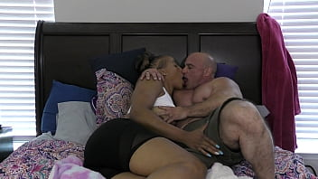 Kendra Allure kisses me and rubs my cock