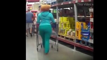 Big booty in light sweatsuit