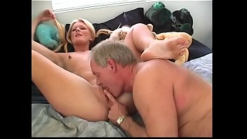 Lick the dust - Aged stud fucked and creamed young blonde chick leigh brooke after she had knocked the dust off the old sombrero