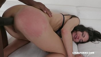 Interracial XXXtreme orgy leaves Nataly Gold's asshole destroyed by 4 guys