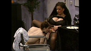 Busty Tiziana Redford in Black Lingerie lesbian scene