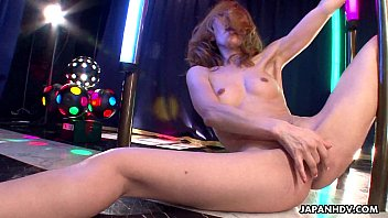Stripper pole dance 101 - Asian stripper getting wild on the pole as she masturbates