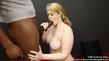 Chubby Blowbang Girl Danielle Gets Face Fucked by Black Cock