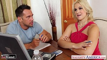 Busty babe Sarah Vandella gets trimmed quim nailed