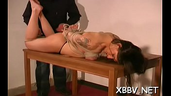 Woman plays by man's rules in s&m xxx non-professional show