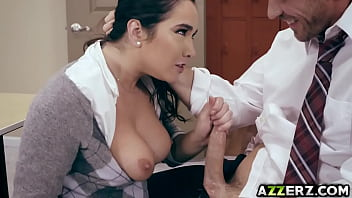 Horny student Karlee Grey bangs with professor