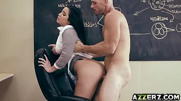 Horny student Karlee Grey bangs with professor