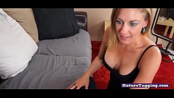 Bigtitted wanking milf teases massive prick