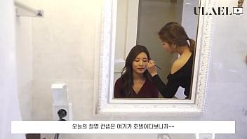 公众号【是小喵啦】韩国性感模特内衣写真拍摄现场花絮