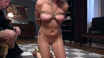 Cheating wife is tied and anal fucked