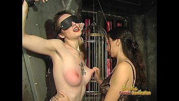 Sexual slave nipple spanking torture stretching Foxy tattooed bimbo likes being spanked really hard by her dominatrix
