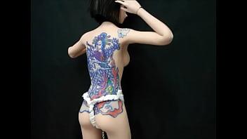 1/6 Tattoo on dolls 人形に刺青・調教 監禁 Tattoo girl JAPAN kawaii moe