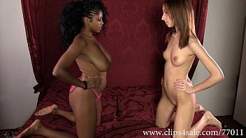 Xxx catfight pics - Df027-black vs white facesitting and strap on wrestling