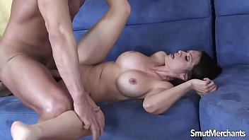 Sexy brunette MILF loves taking cock