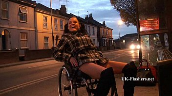 Walker wheelchair adult geriatric Leah caprice flashing nude in cheltenham from her wheelchair