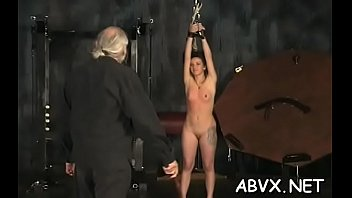 Naked woman extreme slavery at home with horny man Image
