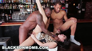 Tag that ass Blacksonmoms - tag teaming a hot milf bartender xa15201