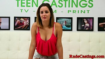Casting teen hardfucked after deepthroathing porn image