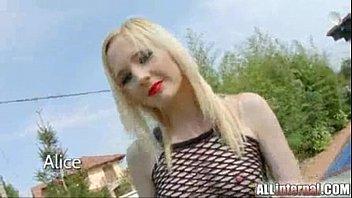 All Internal cute blonde gothic girl gets creampie 15 min