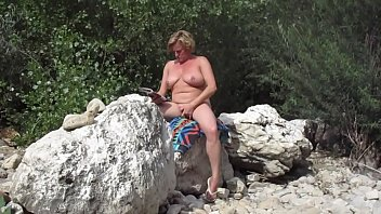 Nude fat cunt Pierced big belly dutch wife fingering her cunt on public beach